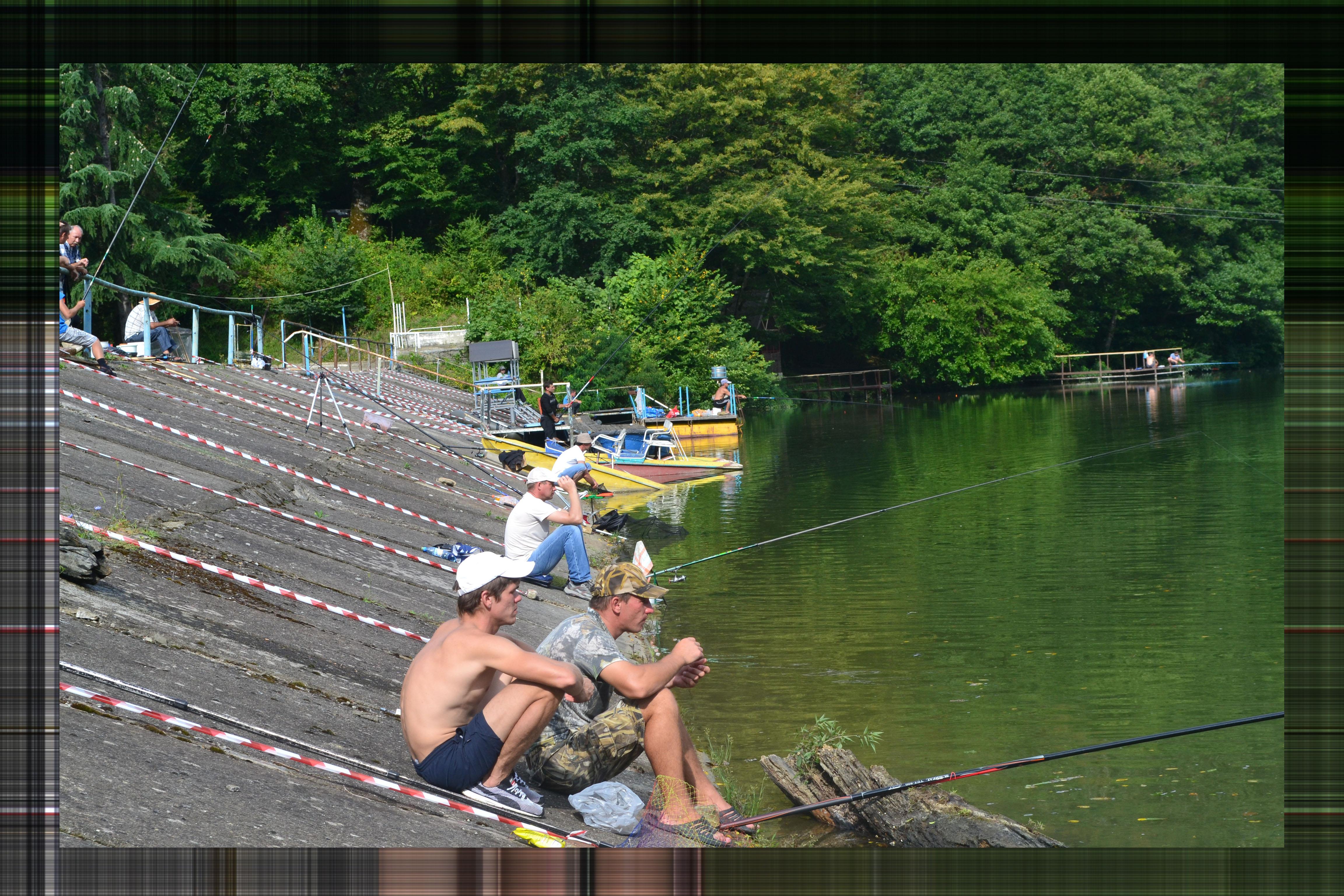 озеро, рыбалка, адлер
